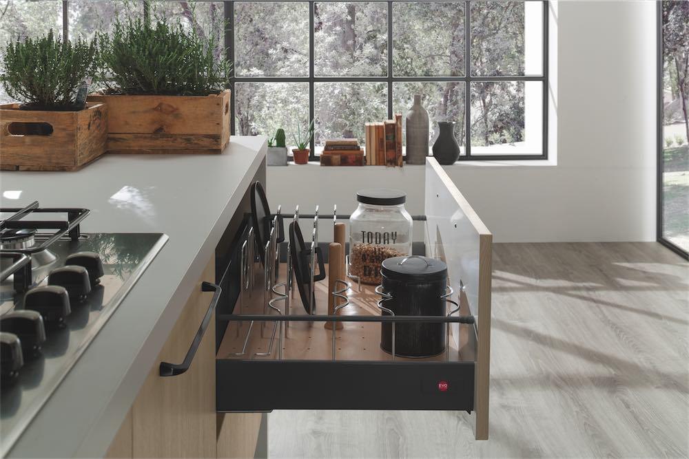 Cucine Moderne Color Rovere Aurora Evo Cucine