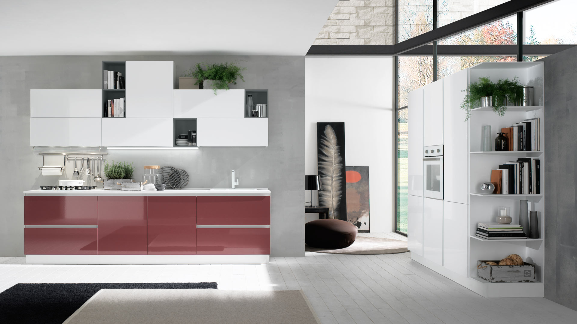 Cucine moderne bicolore   Aurora   EVO Cucine