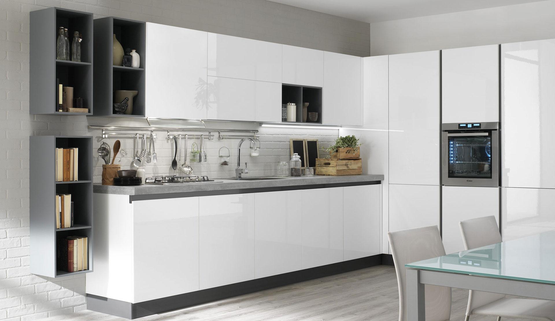Cucina lineare o angolare evo cucine - Cucine lineari moderne ...