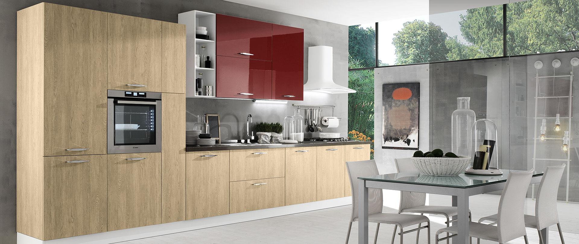 Cucine Moderne Con Pareti Colorate : Cucine a vista con soggiorno ...