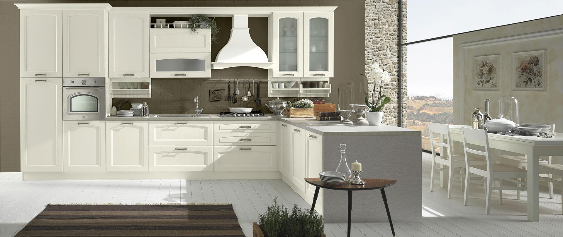 Cucine classiche in frassino memory evo cucine - Dipingere cucina legno ...