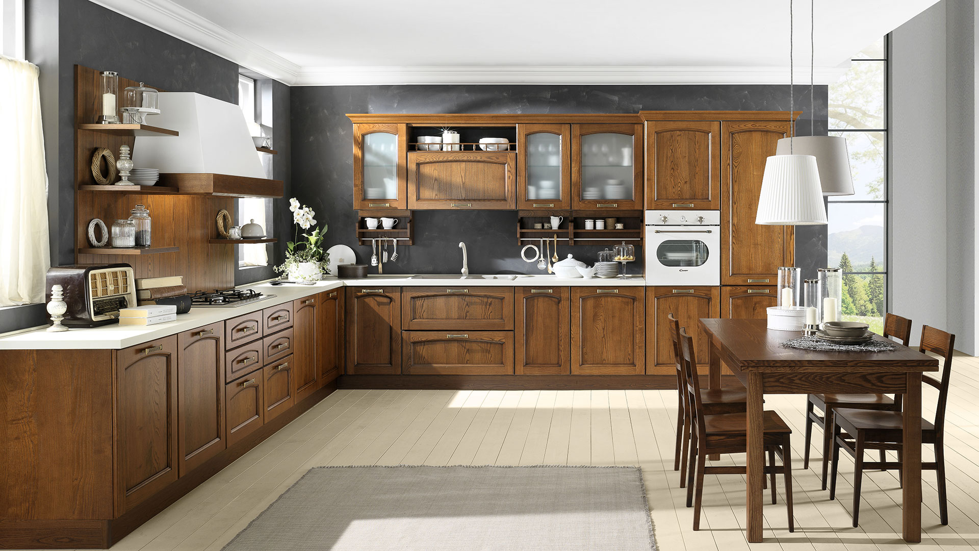 Cucine classiche evo cucine - Cucina classica contemporanea ...