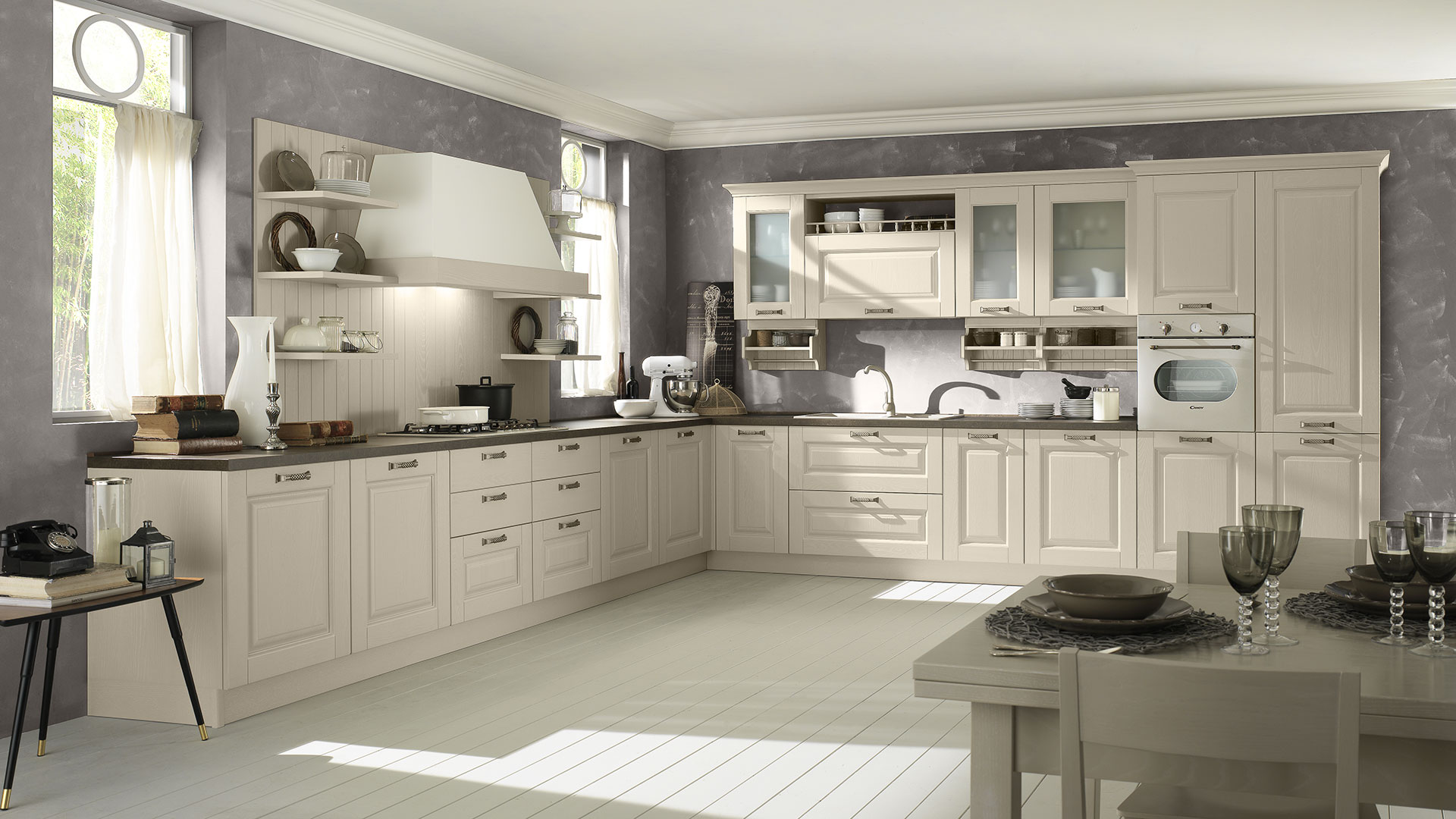 Cucine classiche in legno massello telma evo cucine - Cucina scavolini classica ...