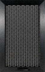 nero e griglia in alluminio