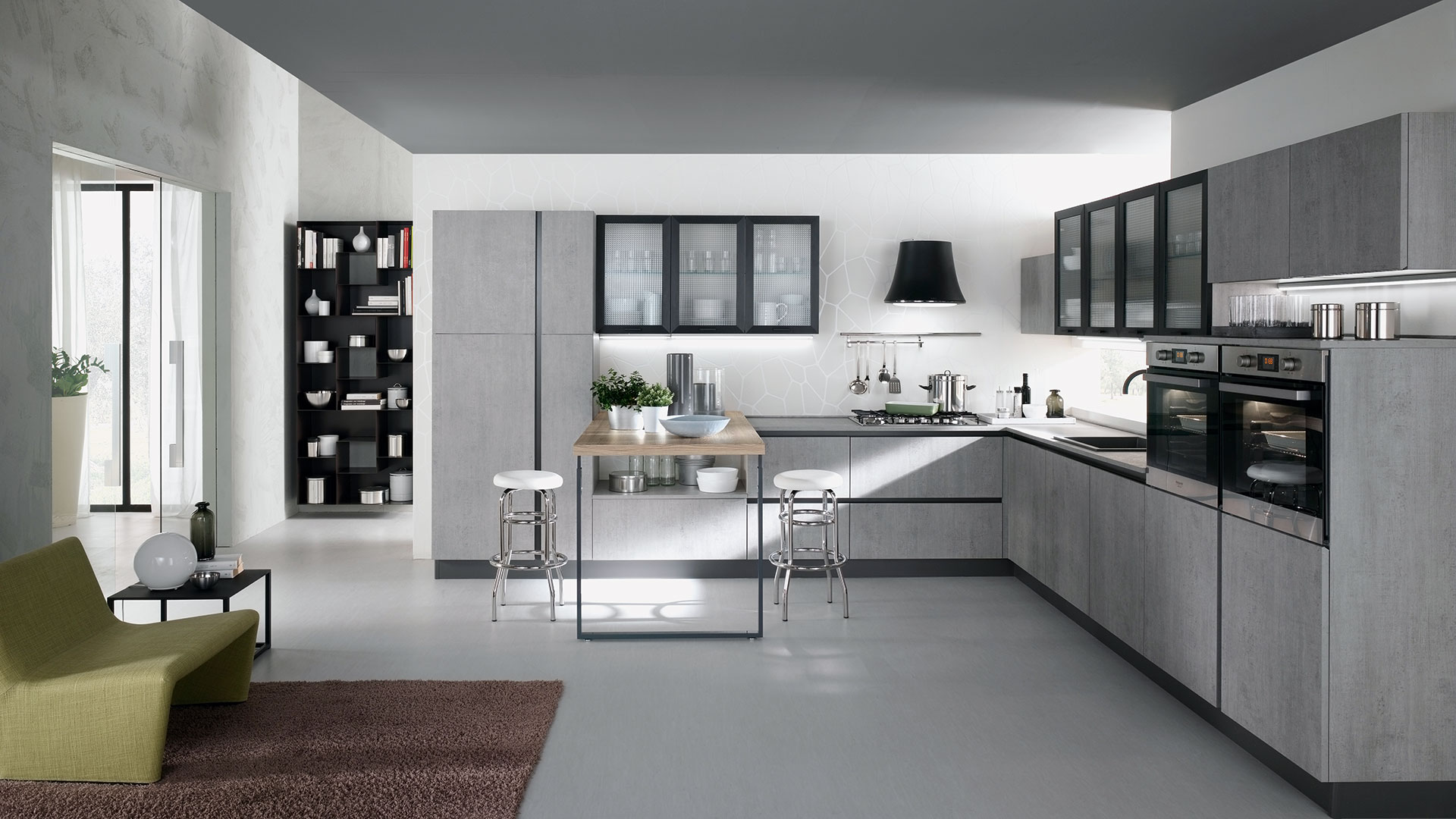 Produttore di cucine moderne evo cucine - Cucine living moderne ...