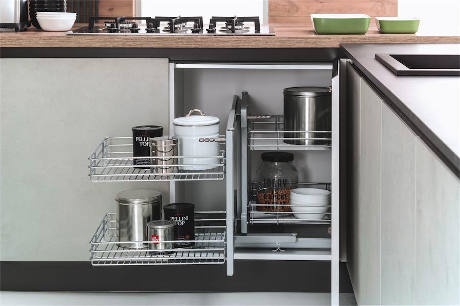 Evo cucina agora basi con ripiani interni evo cucine sito web ufficiale brand di gruppo turi - Ripiani interni cucina ...