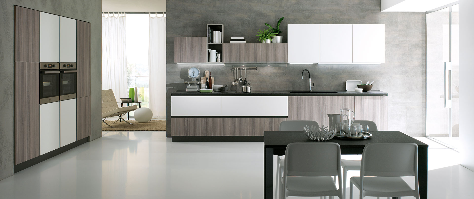 Cucina agor evo cucine - Cucina bianco opaco ...