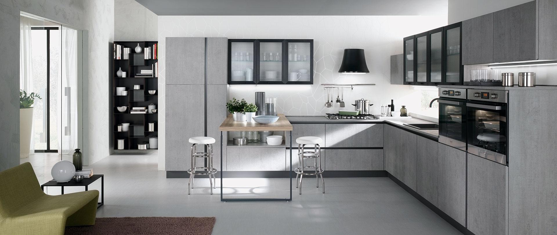 Cucina agor evo cucine - Cucina grigio scuro ...