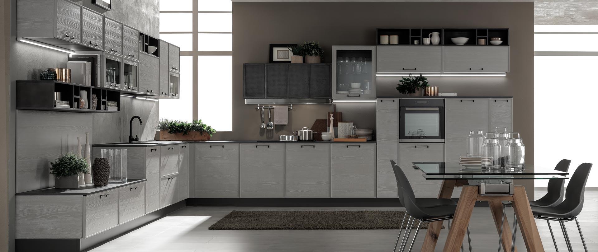 cucina quadra grigio