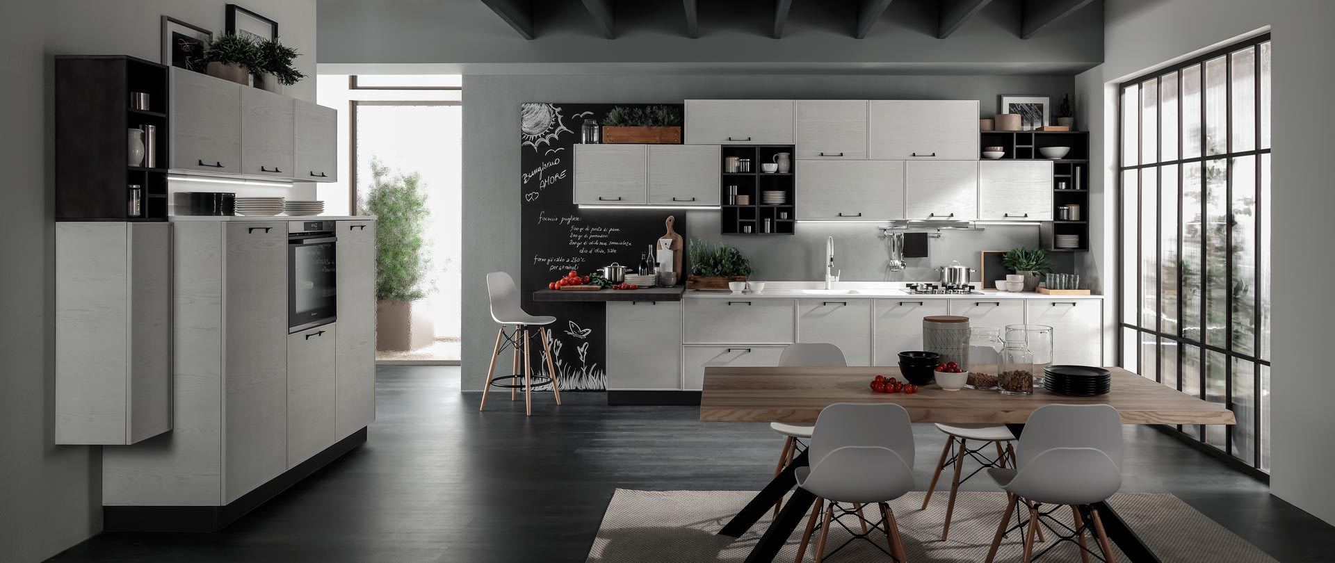 cucina quadra bianco