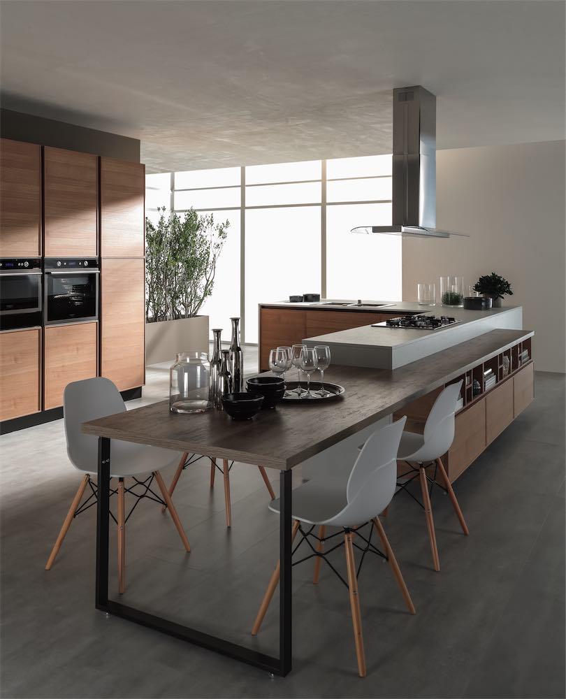 Cucina quadra con gola evo cucine - Cucina attrezzata ...