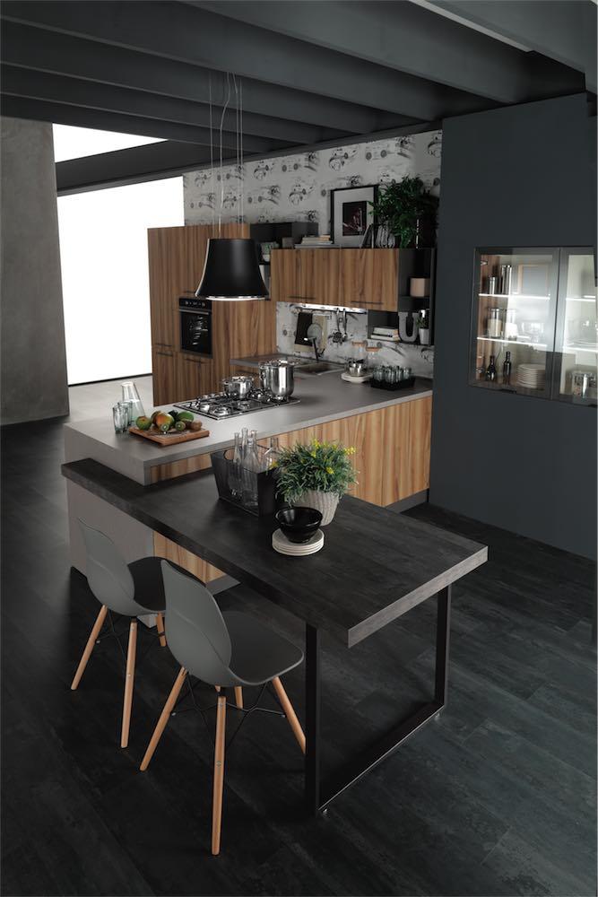 cucina-moderna-sonora-piano-snack - EVO Cucine
