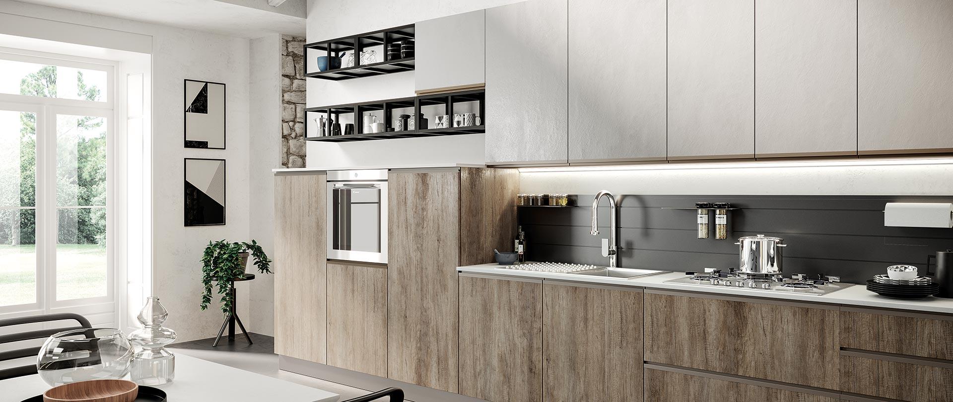 Cucina con maniglia integrata, MAIA, un modello accessibile a tutti.