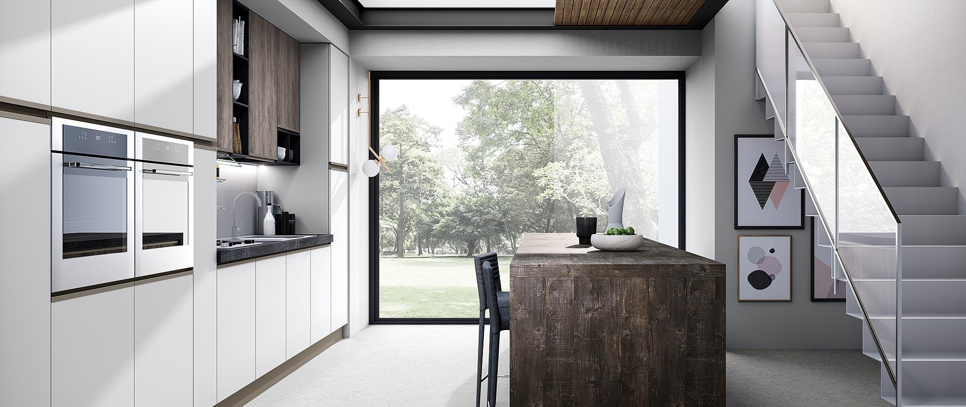 cucina moderna maia legno naturale bianco opaco 01