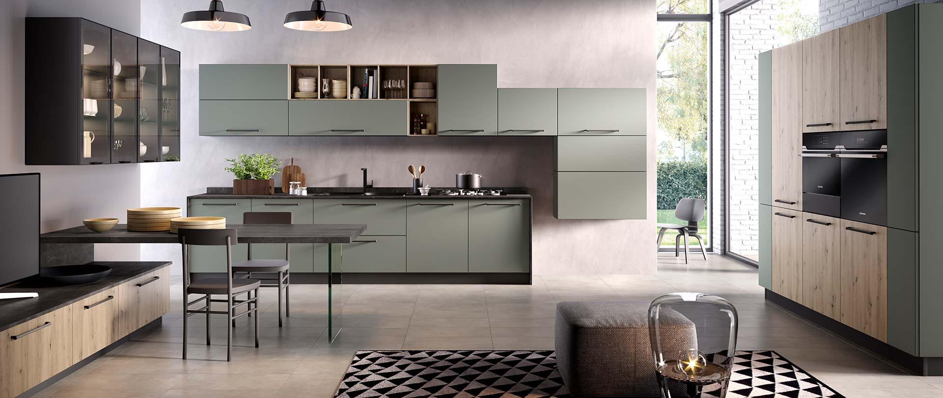 00-evo-cucina-aurora_rovere-nodato-miele-verde-oliva-opaco